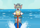 Tom et Jerry Jet ski � la Plage