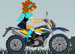 Course Moto Cross de 3 Filles Anime