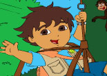Diego For�t Coloriage