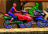 Spiderman Course de Moto